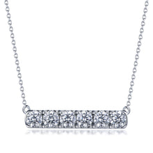 Load image into Gallery viewer, Labyrinth Diamonds 14K White Gold Diamond Bar Pendant
