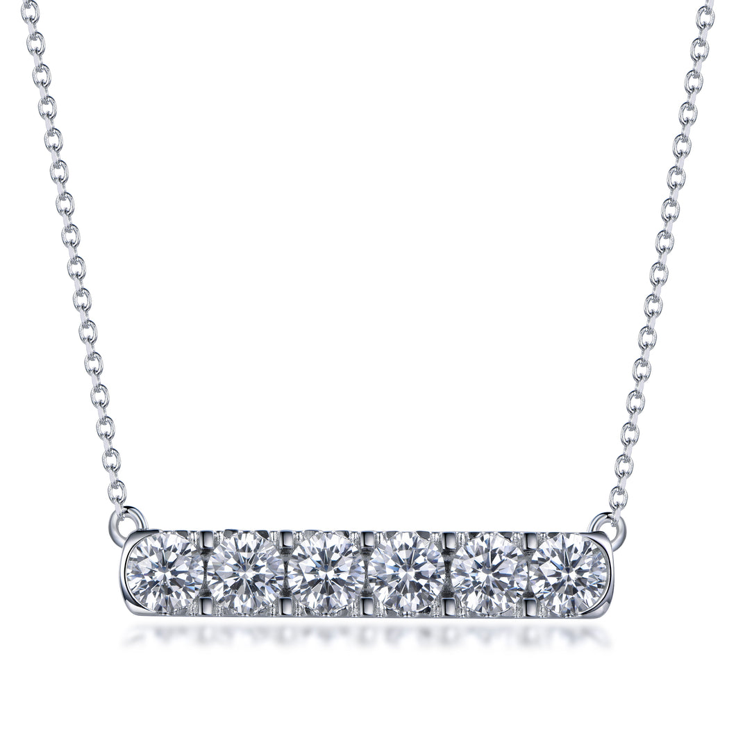 Labyrinth Diamonds 14K White Gold Diamond Bar Pendant