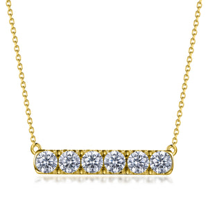 Labyrinth Diamonds 14K Yellow Gold Diamond Bar Pendant