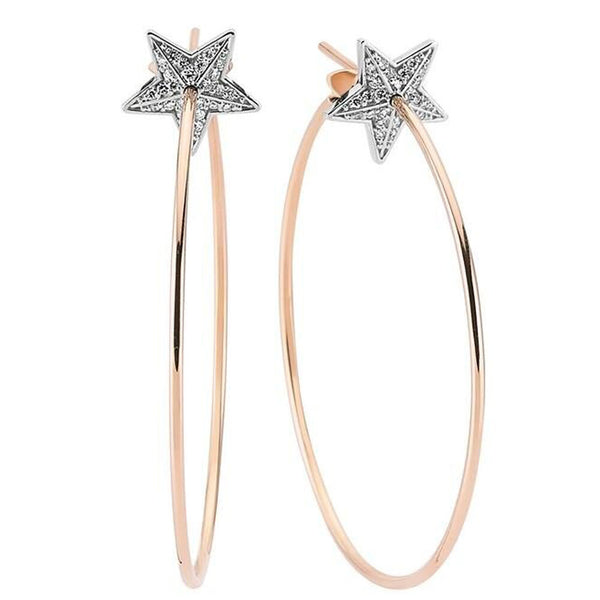 OWN Your Story Star Bright Hoops with Diamonds