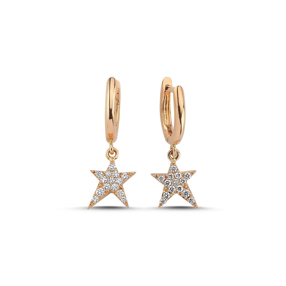 OWN Your Story Rock Star Huggie Hoop Earrings with White Diamonds