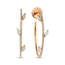 Load image into Gallery viewer, OWN Your Story Diamond Marquise Hoops