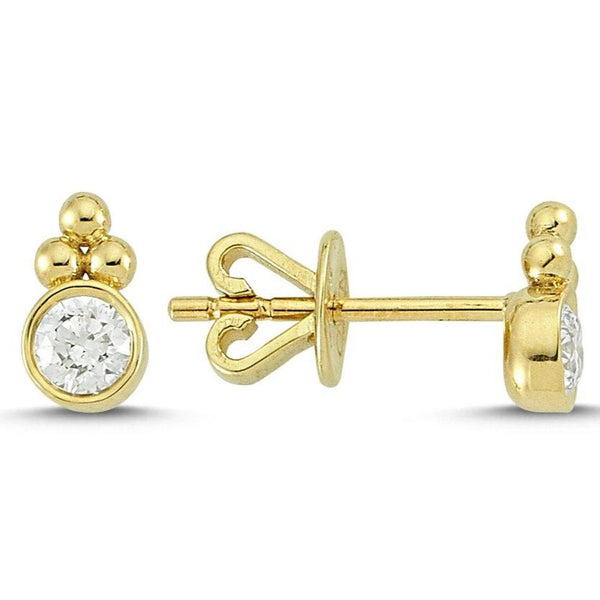 OWN Your Story 14K Gold Harmony White Diamond Studs