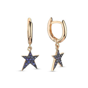 OWN Your Story Rock Star Huggie Hoop Earrings with Sapphires