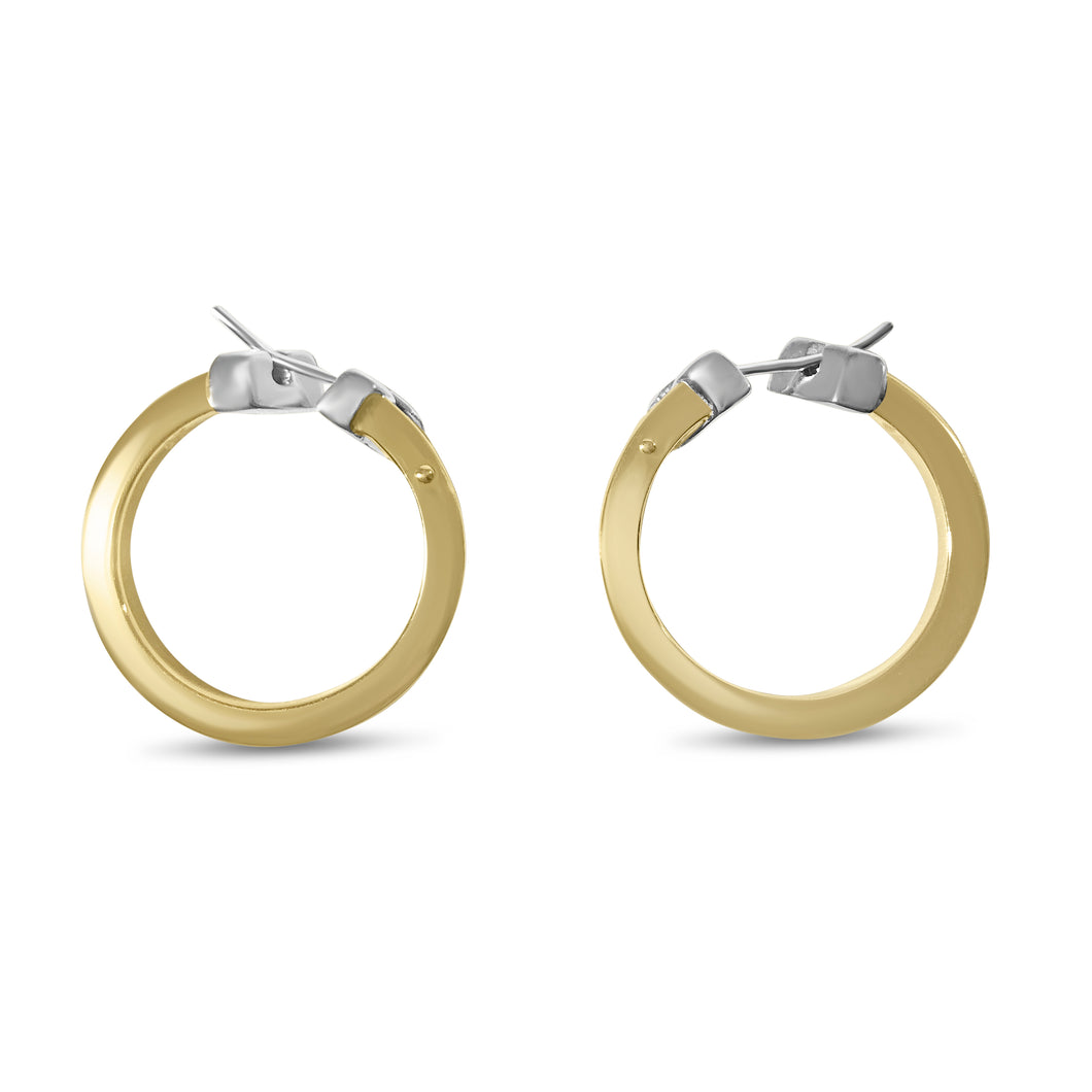 Matthia's & Claire Small Flat Yellow Gold Hoops