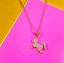 Load image into Gallery viewer, Atelier All Day 14K Gold Vermeil & CZ Mystical Unicorn Pendant