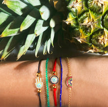 Load image into Gallery viewer, Atelier All Day Evil Eye Red String Bracelet