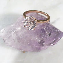 Load image into Gallery viewer, Labyrinth Diamonds 14K Rose Gold Round Hidden Halo Diamond Solitaire Ring