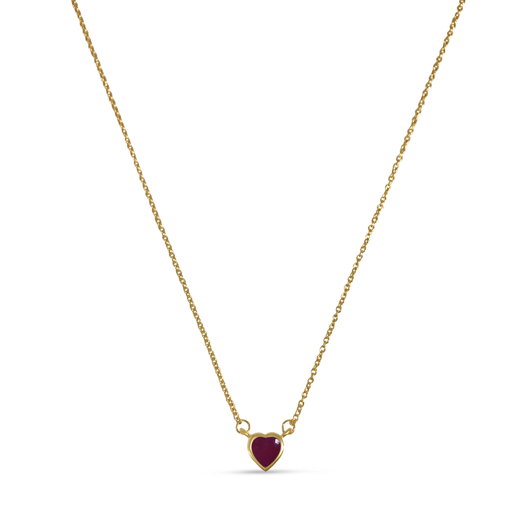 Atelier All Day 14K Gold & Precious Ruby Heart Pendant