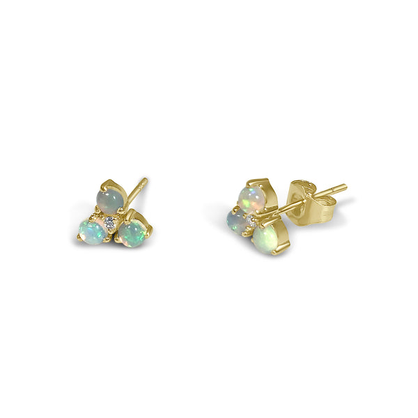 Atelier All Day 14K Gold & Opal Diamond Earrings
