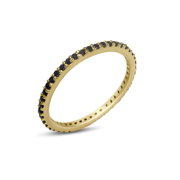 Atelier All Day 14K Gold & Black Diamond Pavé Eternity Band