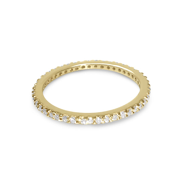 Atelier All Day 14K Gold & White Diamond Pavé Eternity Band
