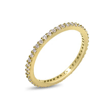 Load image into Gallery viewer, Atelier All Day 14K Gold & White Diamond Pavé Eternity Band