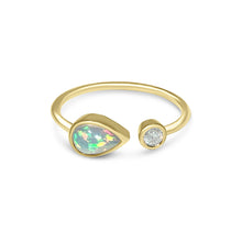 Load image into Gallery viewer, Atelier All Day 14K Gold, Opal & Diamond Ring