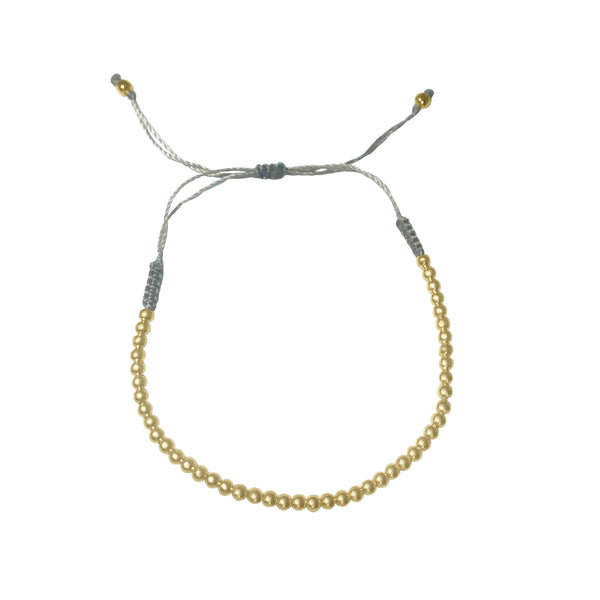 Atelier All Day Gold Beaded String Bracelet