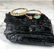 Load image into Gallery viewer, Atelier All Day 14K Gold & Opal Half Eternity Ring