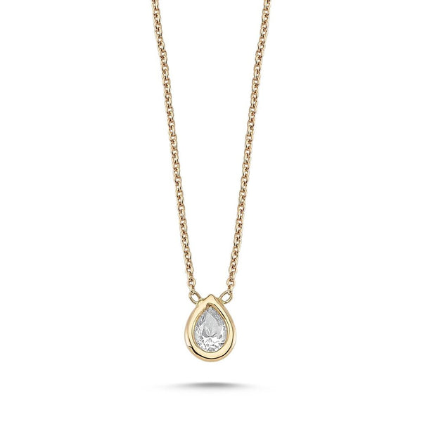 OWN Your Story Lunette Pear Shaped Diamond Pendant