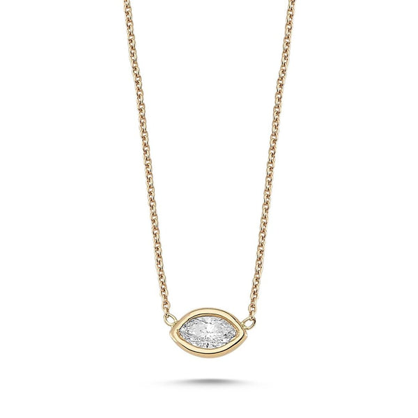 OWN Your Story Lunette Marquise Cut Diamond Pendant