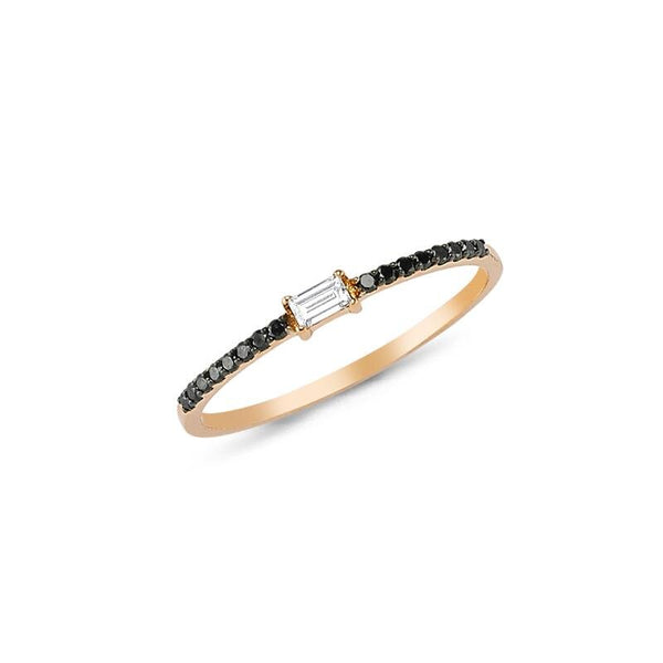OWN Your Story Baguette and Black Diamond Ring