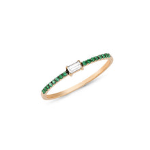 Load image into Gallery viewer, OWN Your Story Baguette and Emerald Ring