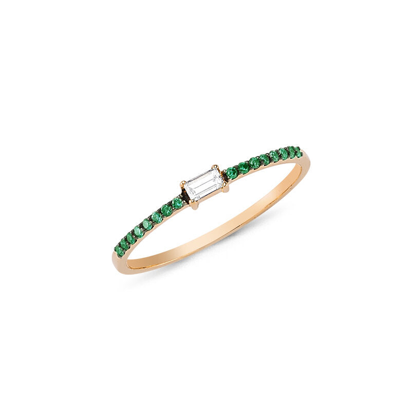 OWN Your Story Baguette and Emerald Ring
