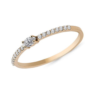OWN Your Story Marquise Diamond and White Diamond Pavé Ring
