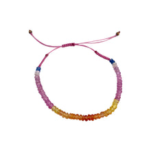 Load image into Gallery viewer, Atelier All Day Precious Pink Ombré Sapphire String Bracelet
