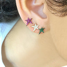 Load image into Gallery viewer, OWN Your Story Ruby Rock Star Stud Earrings