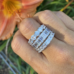Labyrinth Diamonds 14K Gold Emerald Cut Diamond Eternity Band