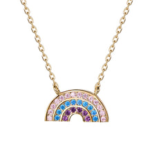 Load image into Gallery viewer, Atelier All Day 14K Gold Vermeil & CZ Pastel Rainbow Pendant