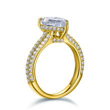 Load image into Gallery viewer, Labyrinth Diamonds 14K Gold Hidden Halo Solitaire Diamond Ring with Pave Band - Pear