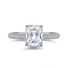 Load image into Gallery viewer, Labyrinth Diamonds Hidden Halo Solitaire Diamond Ring with Pave Band - Radiant