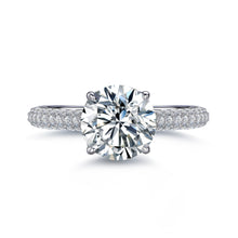 Load image into Gallery viewer, Labyrinth Diamonds Hidden Halo Solitaire Diamond Ring with Pave Band - Round