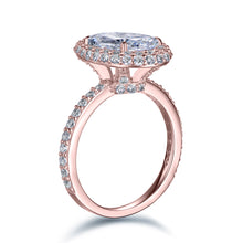 Load image into Gallery viewer, Labyrinth Diamonds 14K Rose Gold Classic Oval Halo Diamond (Semi-Mount)