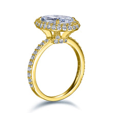 Load image into Gallery viewer, Labyrinth Diamonds 14K Yellow Gold Classic Oval Halo Diamond (Semi-Mount)