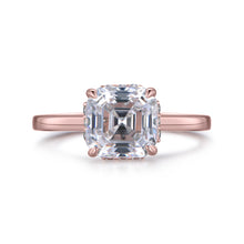 Load image into Gallery viewer, Labyrinth Diamonds Asscher Hidden Halo Lab Diamond Solitaire Ring in 14K Gold