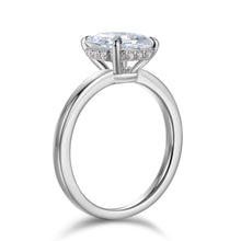 Load image into Gallery viewer, Labyrinth Diamonds Assher Hidden Halo Diamond Solitaire Ring