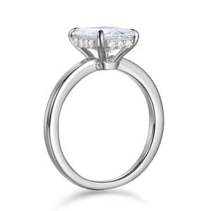 Labyrinth Diamonds 14K White Gold Emerald Hidden Halo Diamond Solitaire Ring