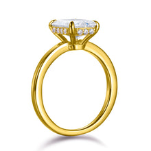 Load image into Gallery viewer, Labyrinth Diamonds 14K Yellow Gold Emerald Hidden Halo Diamond Solitaire Ring