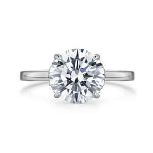 Labyrinth Diamonds 14K White Gold Round Hidden Halo Diamond Solitaire Ring