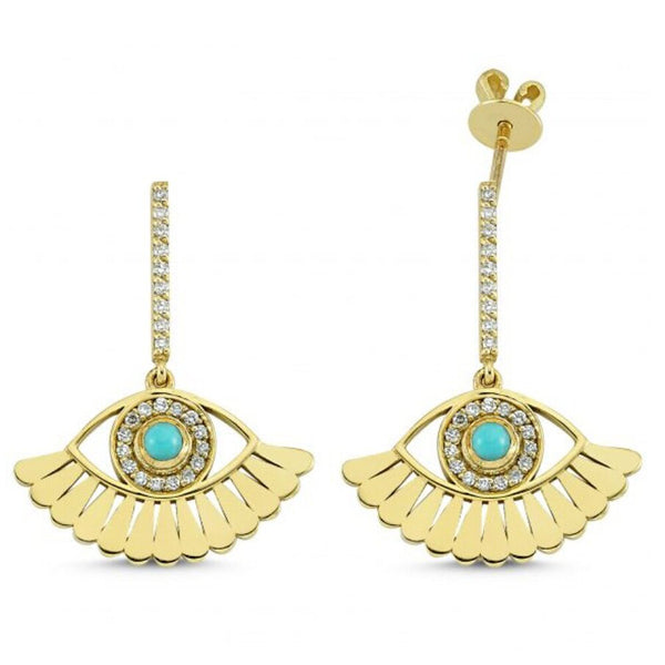 Own Your Story Evil Eye Lower Lashes Drop Earrings