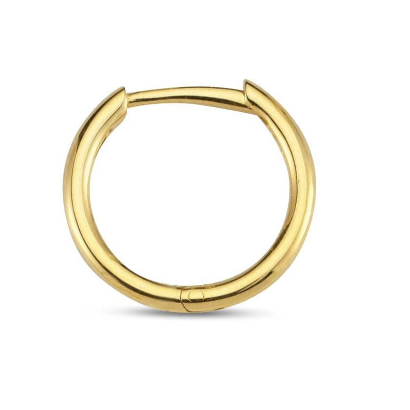 OWN Your Story 14K Gold Plain Hoop (Single)
