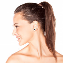 Load image into Gallery viewer, OWN Your Story Sapphire Rock Star Stud Earrings