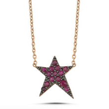 Load image into Gallery viewer, OWN Your Story Ruby Rock Star Necklace
