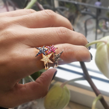 Load image into Gallery viewer, OWN Your Story Blackout Rock Star Ring