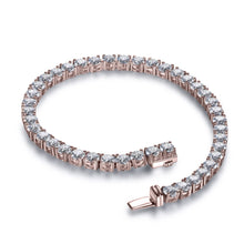Load image into Gallery viewer, Labyrinth Diamonds 14K Rose Gold Classic One Line Tennis Bracelet Round