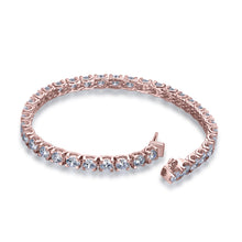 Load image into Gallery viewer, Labyrinth Diamonds 14K Rose Gold Classic One Line Tennis Bracelet Luxe Round