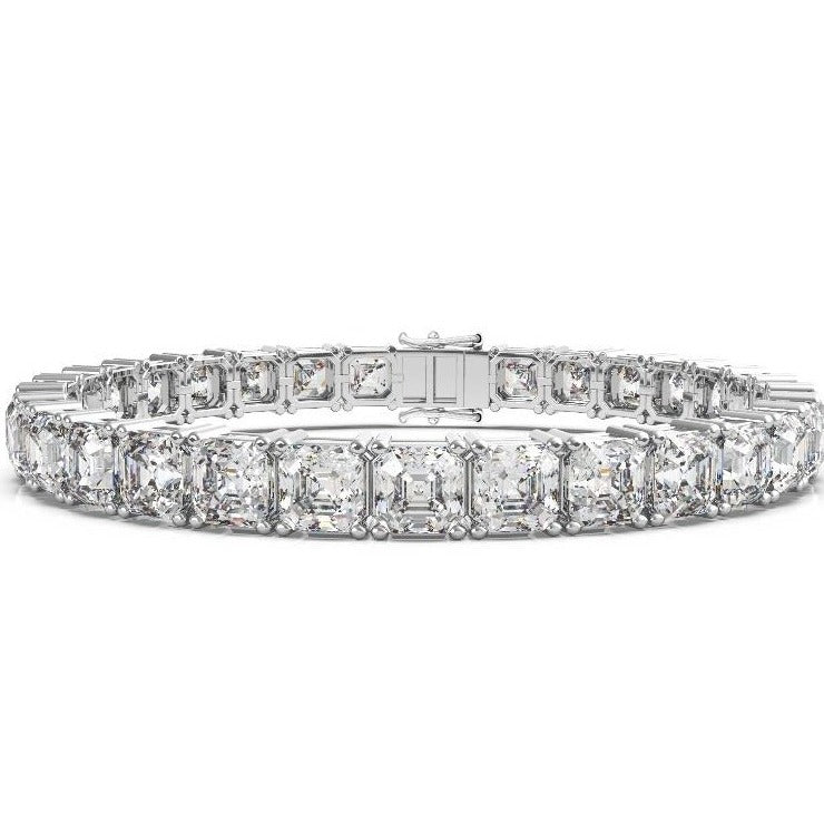 Labyrinth Diamonds Classic One Line Tennis Bracelet - Asscher