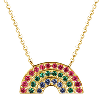Load image into Gallery viewer, Atelier All Day 14K Gold #RAINBOWHUNT Pendant with Rainbow CZs, benefitting No Kid Hungry