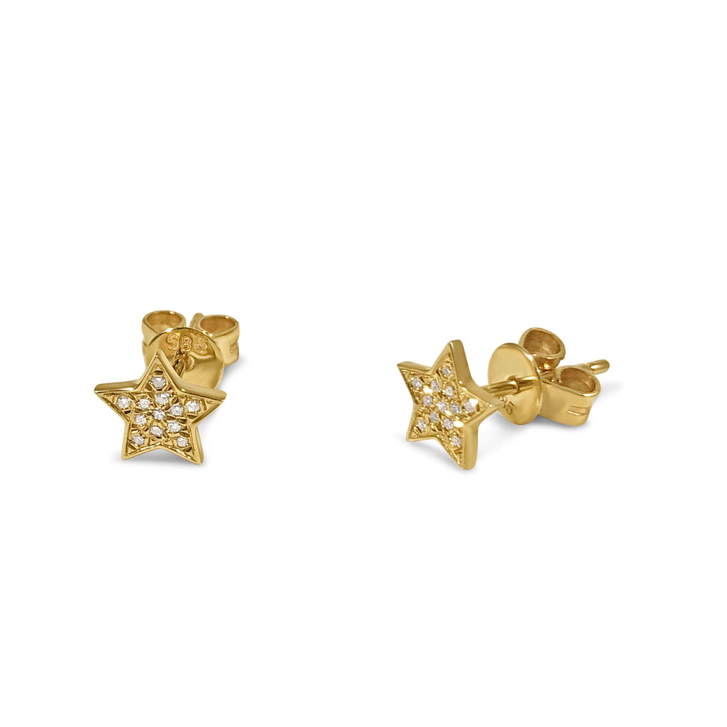 Atelier All Day 14K Gold & Diamond Star Studs
